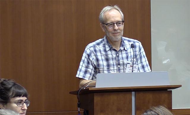Jon Harrison at symposium